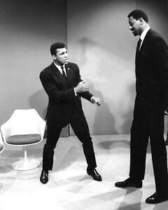 1967 MUHAMMAD ALI vs WILT CHAMBERLAIN Glossy 8x10 Photo Talk Show Print Poster