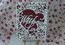 WITH LOVE ~ VALENTINE'S DAY HANDMADE GREETING CARD ~WHITE HEART DIE #emc1724