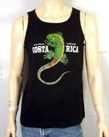 vtg 90s retro Pura Vida Costa Rica Tank Top T-Shirt Iguana surf skate SZ M