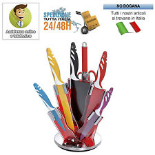 Set coltelli Royalty Line in ceramica Antibatterica Ceppo Colorati