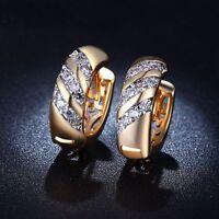 Women Earrings Trendy Charm Jewelry Gold Plated Jewelry Rose Gold Hoop Earrings