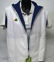Reversible White / Royal Microfibre Vest Lawn Bowls Australia  Zip up & Pockets