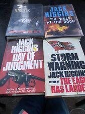 Jack Higgins Hardcover Book Lot