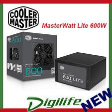 Cooler Master MasterWatt Lite 230V 600W 80+ Power Supply PSU coolermaster