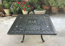 "Patio coffee table sqaure 36"" Elisabeth cast aluminum outdoor furniture"