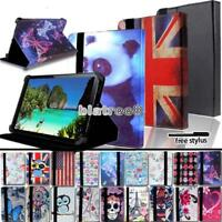 """For Various 7"""" Cube Tablet - Smart Stand Leather Cover Case + Stylus"""