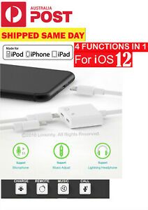 Apple 2 in 1 Dual Headphones charging adapter For iPhone 12 11 ProMax 8 7 6 plus