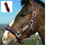 John Whitaker Fleece Lined Waffle Headcollar/ Lead Rope Cob Full FREE DELIVERY