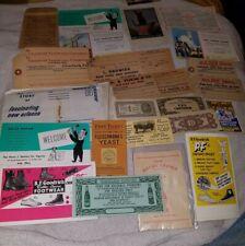 25 piece Ephemera paper Lot soda, fur, ginseng, shoes, postcards, blotters etc