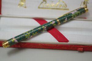 VINTAGE RAINBOW CHINESE CLOISONNE ENAMEL BALLPOINT PEN ORIGINAL BOX
