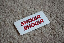 Showa Racing Rally Motorsport Race Car Decal Stickers Badge Logo Red Black 100mm