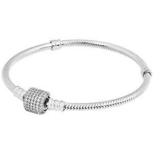 Pandora Bangle Silver Fashion Bracelets For Sale Ebay