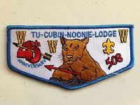 TU CUBIN NOONIE OA LODGE 508 SCOUT SERVICE PATCH FLAP 45TH ANNIVERSARY BLUE MINT