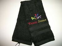 "GOLF TOWEL / PERSONALIZED 15"" X 25"",NEW EMBROIDERED"