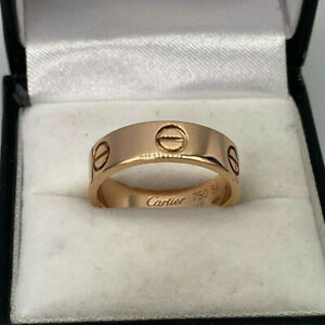 Genuine Cartier 18ct Rose Gold 5mm Love Ring .  Size 54.  Goldmine Jewellers.