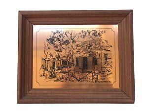 Vintage Copper Print Trevor Opray 1975