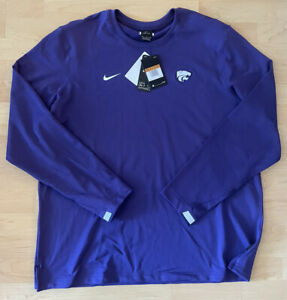 Nike Kansas State Wildcats On Field Pullover Crew Shirt 2020 Men's Size XXL NWT