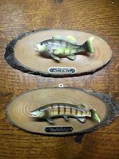 Vintage Mounted Fish Black Bass , Musky Fish Ceramic Napco