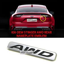 KIA OEM 86340J5000 Stinger AWD Rear Emblem Nameplate for KIA Stinger 2017 - 2018