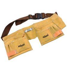Rolson 10 titular de la Martillo Doble Bolsa De Cuero De Bolsillo Cinturón de herramientas para aprendiz Hazlo tú mismo