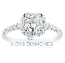 1.00 Carat I Si1 Certified Round Diamond Engagement Ring Set In 18K