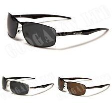 Gafas de sol de hombre negra rectangular, con 100% UVA & UVB