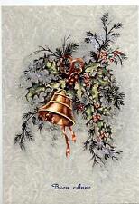 Buon Natale con Campana Xmas w Bell Cloche Glocke Vintage PC Circa 1950 14