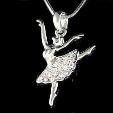 w Swarovski Crystal BALLERINA Ballet Dancer Necklace Gift 4 The Nutcracker Lover