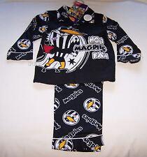 Collingwood Magpies AFL Mascot Boys Black Flannel Pyjama Set Size 5 New