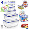 Airtight Lock & Fresh Clip Lid Food Hygiene Storage Container Lunch Boxes Set UK
