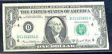 1969D$1 Frn (Printed Fold Error Note)-Fr#1907D-Cleveland- Rare