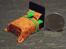Dollhouse Miniature Halloween Bed 1:48 Quarter inch scale 1/4 F51 Dollys Gallery