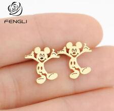 Fashion Jewelry Mickey Mouse Shaped Stud Earrings Children Girls Kids  TK17-3