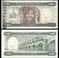 ERITREA 10 Nakfa, 1997,  P-3, Children, UNC World Currency