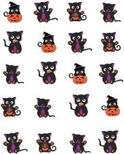 Black Cats Halloween Waterslide Nail Decals/Nail Art