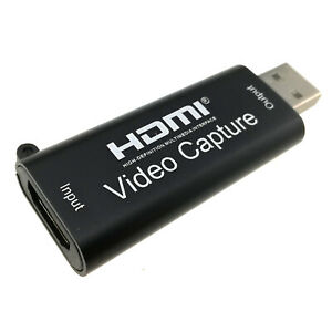 USB Capture Card 4K HDMI Input Video Audio Recording Adapter 1080P Out Preview