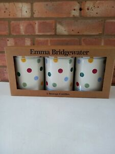 Emma Bridgewater Set of 3 Round Caddies Tins Polka Dot - New Boxed