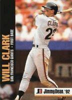 1992 Jimmy Dean Baseball #7 Will Clark San Francisco Giants