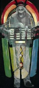 The Tune In Dan's Cafe OF NIGHT GALLERY HAND OIL PAINTING