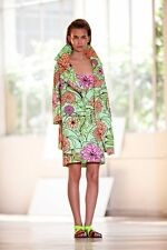 New  TER ET BANTINE   Neon Floral Over Coat  -  Size Euro 42 (Aus 12) - $1500