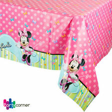 """MINNIE MOUSE PARTY SUPPLIES LARGE TABLE COVER / TABLE CLOTH 54 X 96"""""""