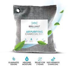 Natural Deodorizer Charcoal Bamboo Air Purifying Bag, Odor Eliminator 220g