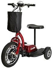 Drive Medical ZooMe 3-Wheel Recreational Electric Power Mobility Scooter Red NEW
