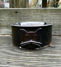 Artisan Jan Barboglio Forged Cast Iron One Quart Cat Serving Bowl