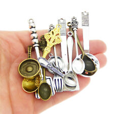 12pcs/lot Mixed Alloy Assorted Tableware Cookware Pendants Charms Jewelry Crafts