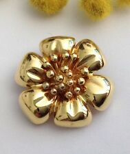 "SPILLA  FIORE  IN ORO GIALLO 18KT - 18KT SOLID  YELLOW GOLD "" FLOWER "" BROOCH"
