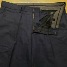 J Crew Bowery Slim Dark Blue Year Round Wool Flat Front Pants W 36 x L 30