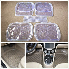 5Pcs Non-slip Durable Car Floor Mat Clear PVC Foot Pads Fit All Weather Rugs Kit