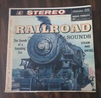 Railroad Sounds Steam and Diesel Trains Stereo Record LP VG AFSD-5843