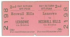 BRB/M Edmondson Railway Ticket 2198 Heswall Hills to Leasowe